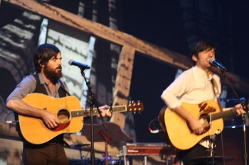 The Avett Brothers at the 2011 Americana Awards show