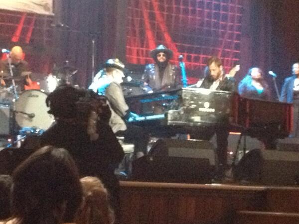 Dr. John and Dan Auerbach at the Americana Music Festival