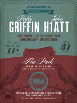 cross county 262x350 John Hiatt, Patty Griffin headline Cross County Lines