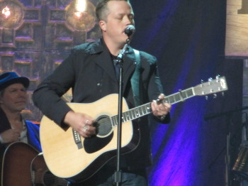 Jason Isbell performs at the Americana Music Festival Honors and Awards show at the Ryman Auditorium in Nashville.