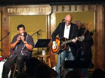 Jerry Lawson and Eric Brace on stage at the Station Inn