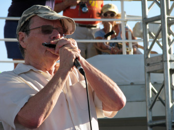 Delbert McClinton is the host and ringleader of the Sandy Beaches cruise, opening and closing the week, and playing all over the ship throughout the week.